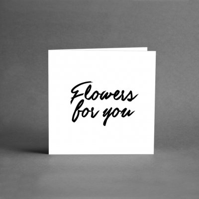 Kort - Flowers for you